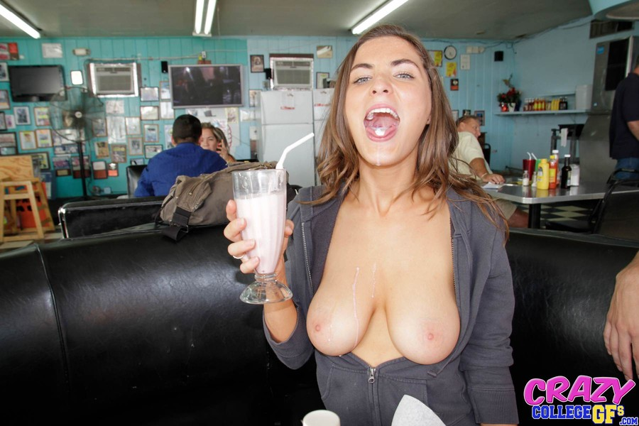 Cafe blowjob