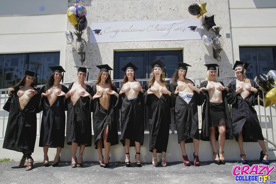 What? Graduation girls naked