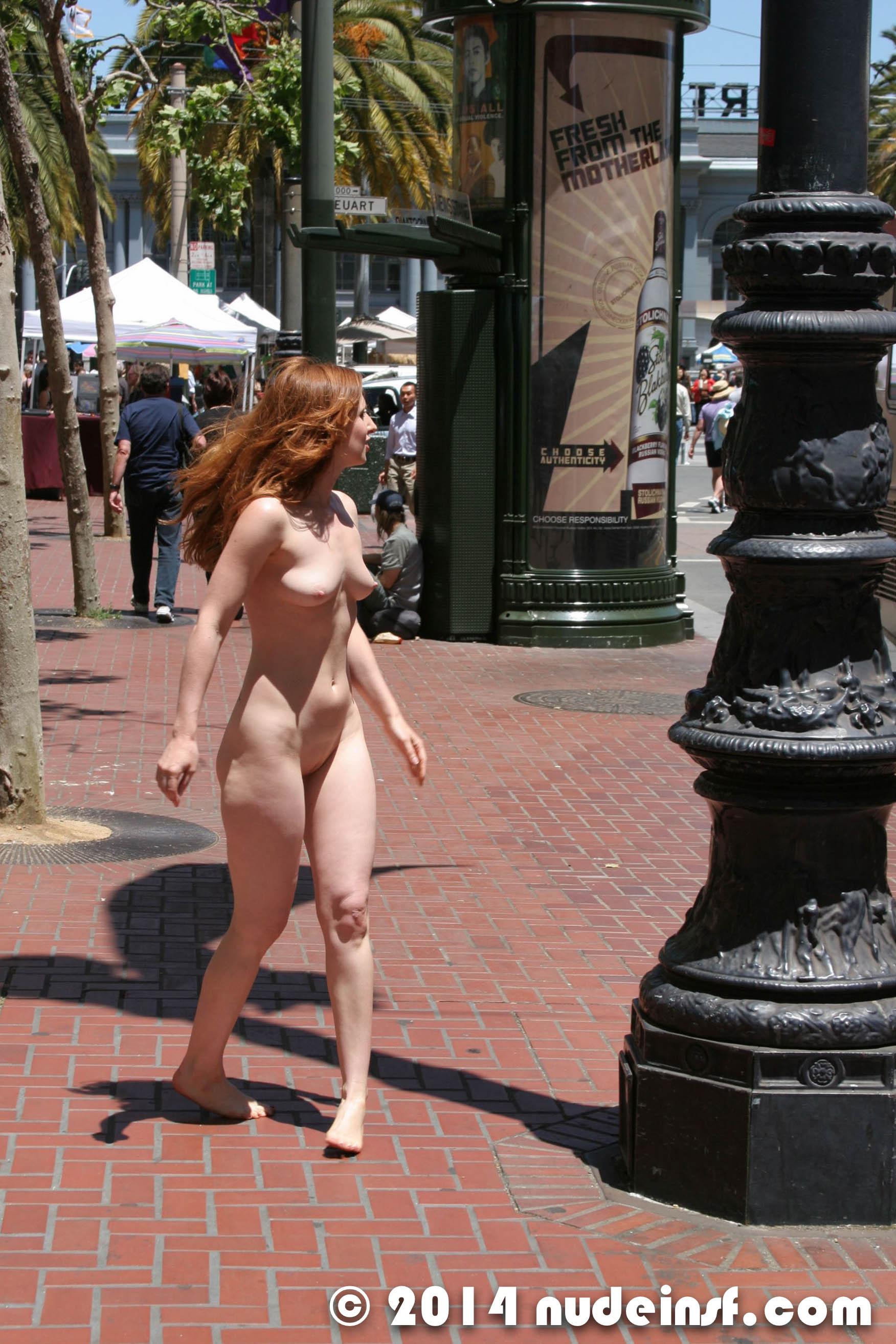 nude pale girl in public