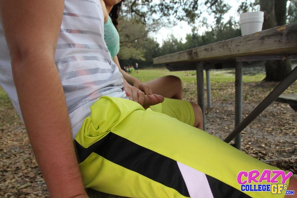 handjob in public park