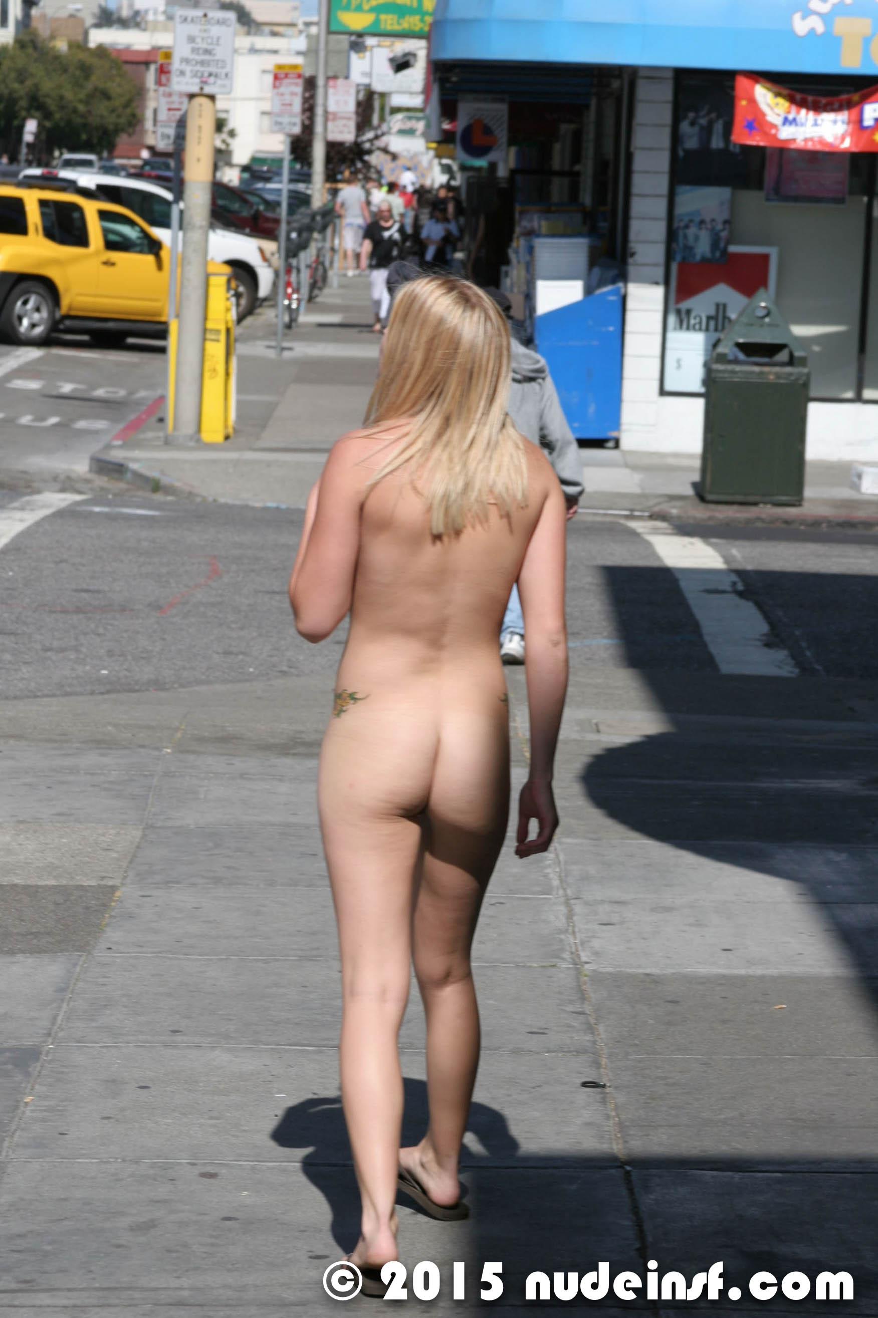 naked public street
